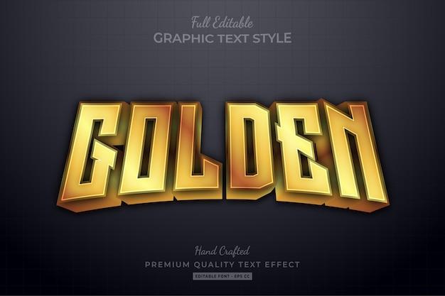 Golden elegant editable text effect