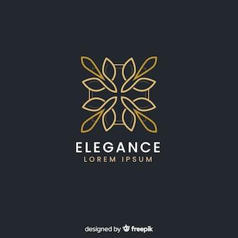 Golden elegant logo flat style