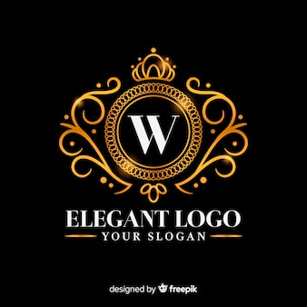 Golden elegant logo template