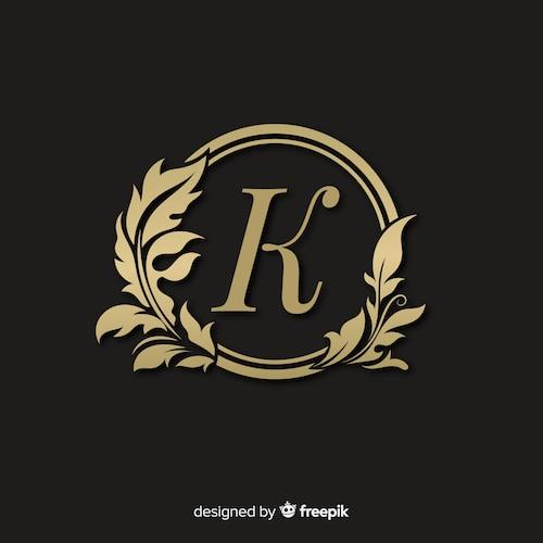 Golden elegant logo with frame
