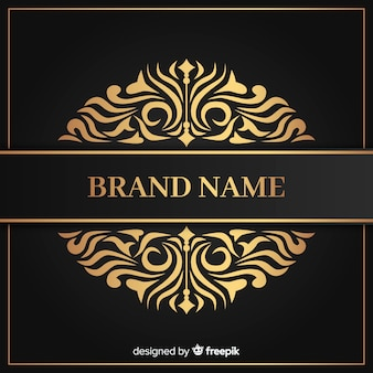 Golden elegant luxury logo template