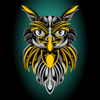 The golden emblem of the holy owl