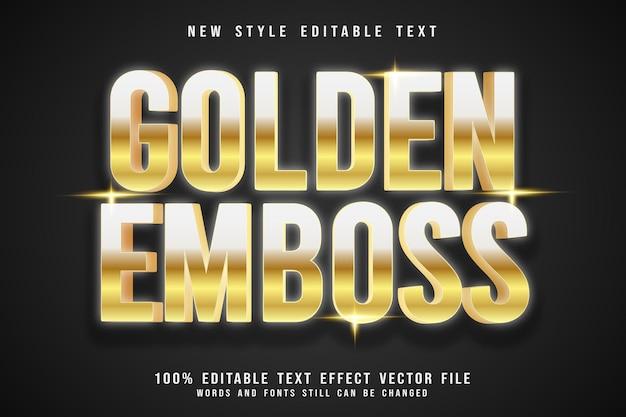 Golden emboss editable text effect emboss luxury style