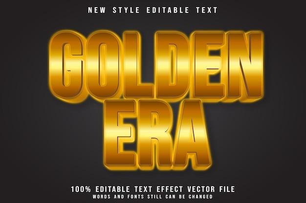 Golden era plate editable text effect emboss luxury style