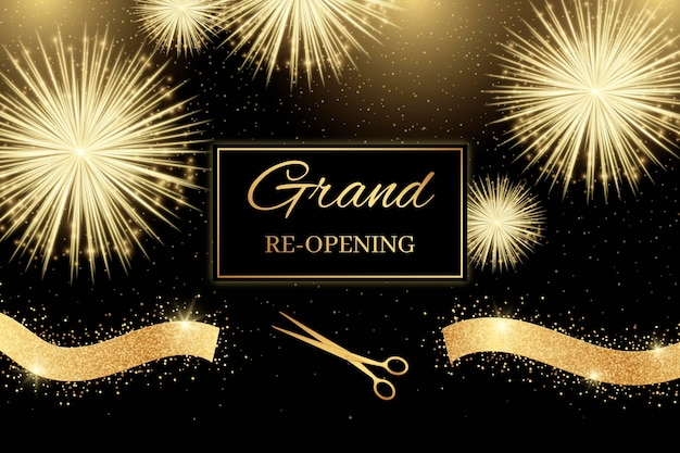 Golden fireworks re-opening soon background