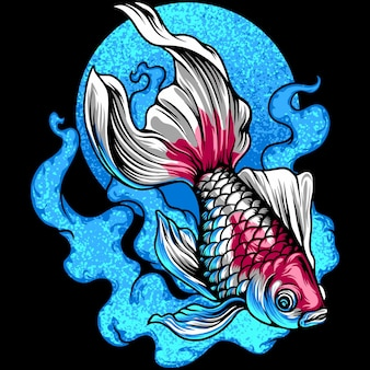 Golden fish illustration