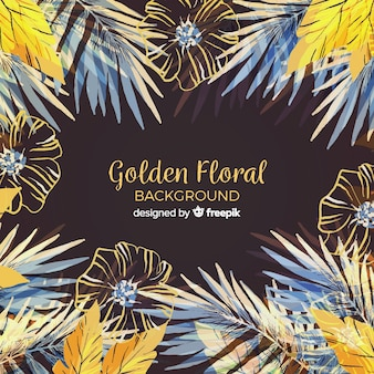 Golden floral background