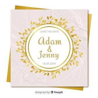 Golden floral cards