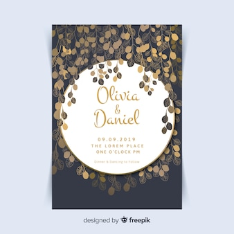 Golden floral cards