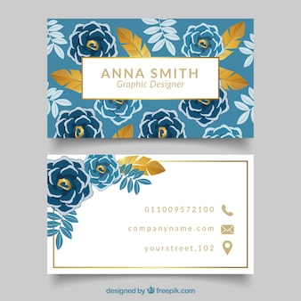 Golden floral company card