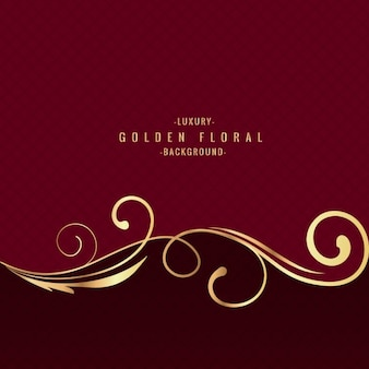 Golden Floral Luxury Background