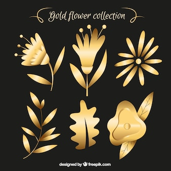 Golden flower collection