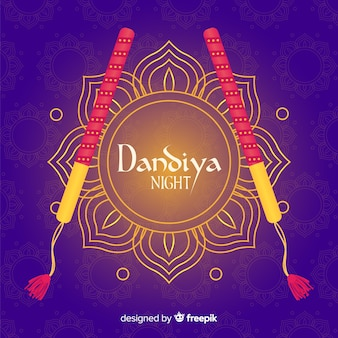 Golden flower dandiya background