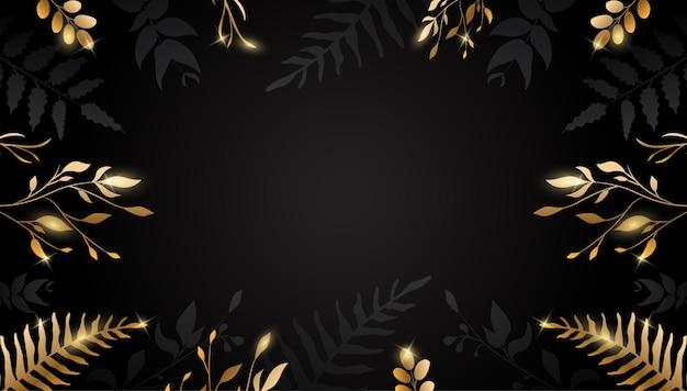 Golden flower on dark background