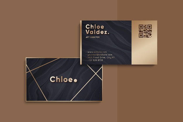 Golden foil business card template