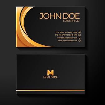 Golden foil business card template