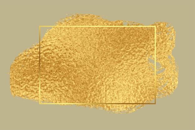 Golden foil premium texture frame background