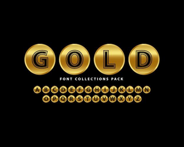 Golden font luxury set
