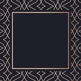 Golden frame art geometric elegant background