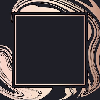 Golden frame fluid art vector geometric elegant background cover card