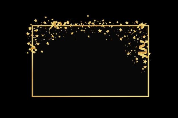 Золотая рамка с блестками
