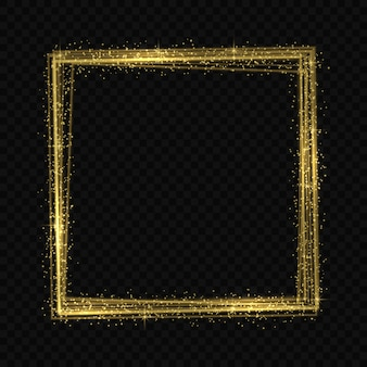 Golden frame light tracing effect
