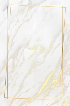 Golden frame on marble background