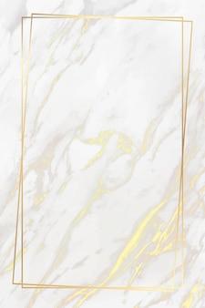 大理石の背景にゴールデンフレーム
