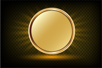 Golden frame on sunray background  with space for your text