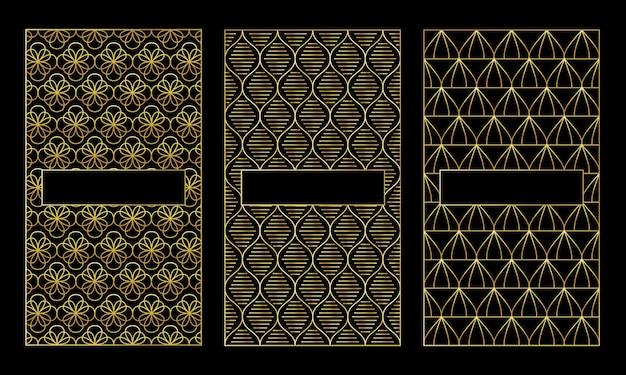 Золотая рамка или рамка, декоративный дизайн, стиль резки лазером.