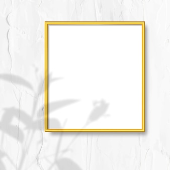 Golden frame on a wall