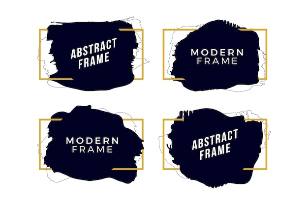 Golden frames with brush strokes