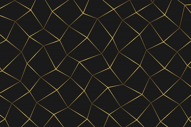 Golden geometric abstract background.