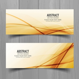 Golden geometric banners set