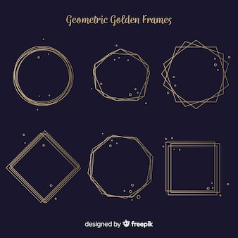 Golden geometric frame pack