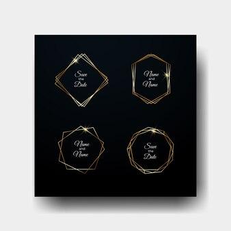 Golden geometric frame