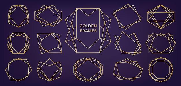 Golden geometric frame.