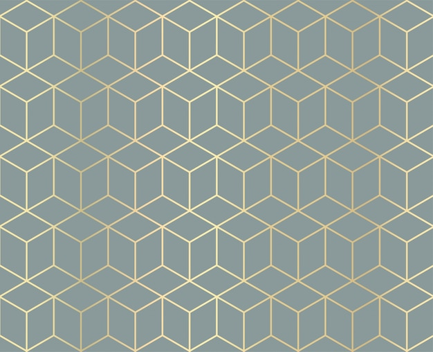 Golden geometric pattern background