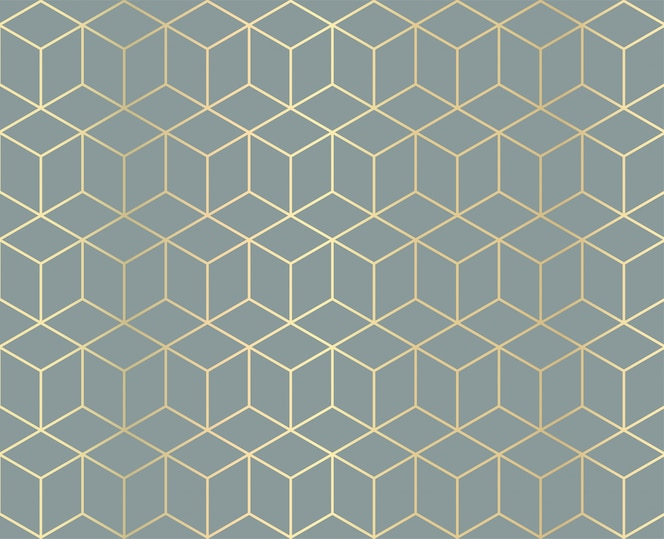 Golden geometric pattern background