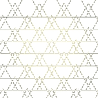 Golden geometrical pattern with triangles