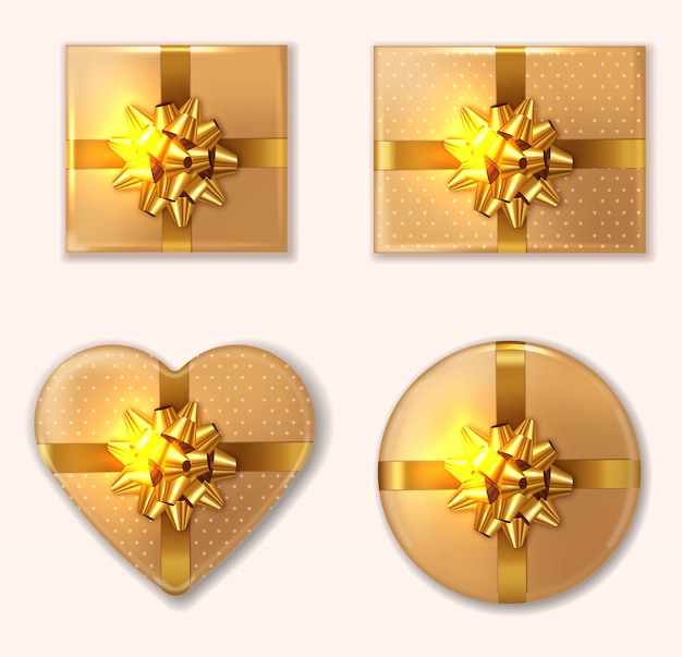 Golden gift box collection