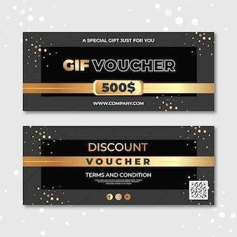 Golden gift voucher template