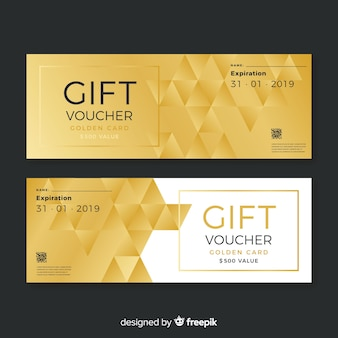 Golden gift voucher