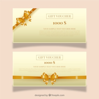 Golden gift vouchers