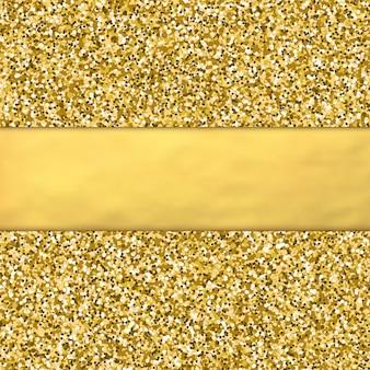 Golden glitter background with golden foil babber