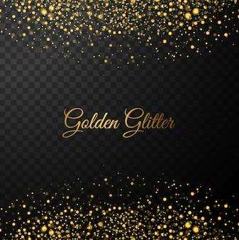 Золотой блестит фон