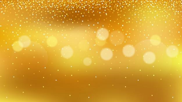 Golden glitter, gold bokeh for celebration