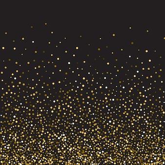 Golden glitter shine texture on a black background