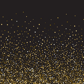 검은 색 바탕에 황금 반짝이 광택 질감