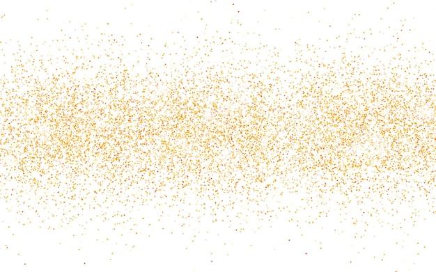 Golden glitter sparkle on a transparent background